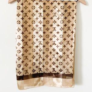 Louis Vuitton 100% Silk Scarf